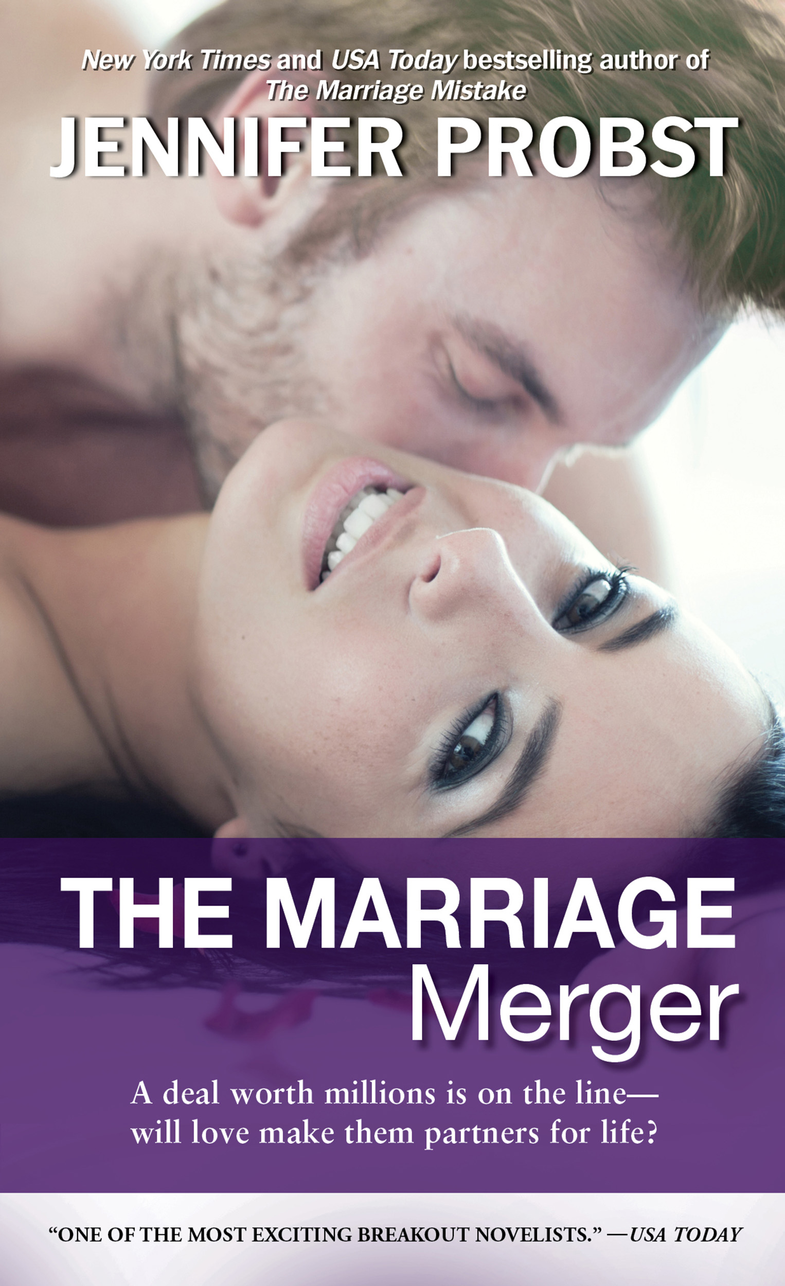 The Marriage Merger by Jennifer Probst graphic